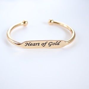 Heart of Gold Bangle Bracelet- Avon